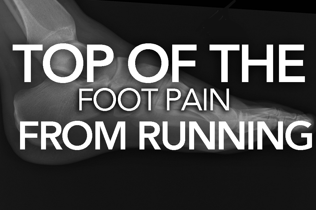 Many runners encounter the aching feeling of top of the foot pain from running. There are several easy ways to help allieviate the pain