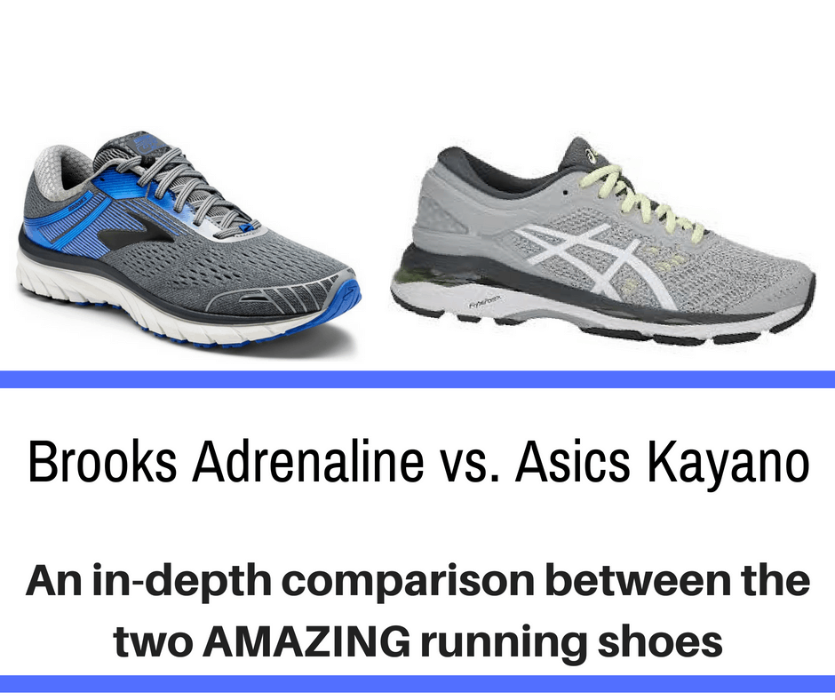 A full detailed analysis of Brooks Adrenaline vs Asics Kayano, here are the main differences of these very popular running shoes.