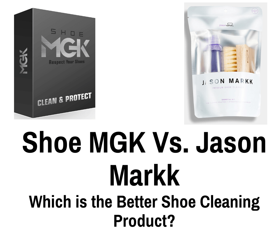 The right cleaning products can bring your shoes such as sneakers back to life. Today we compare Shoe MGK vs Jason Markk
