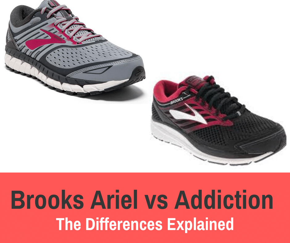There are many differences between road running shoes, Two pairs of shoes that are seemingly identical are the Brooks Ariels vs. the Brooks Addiction.