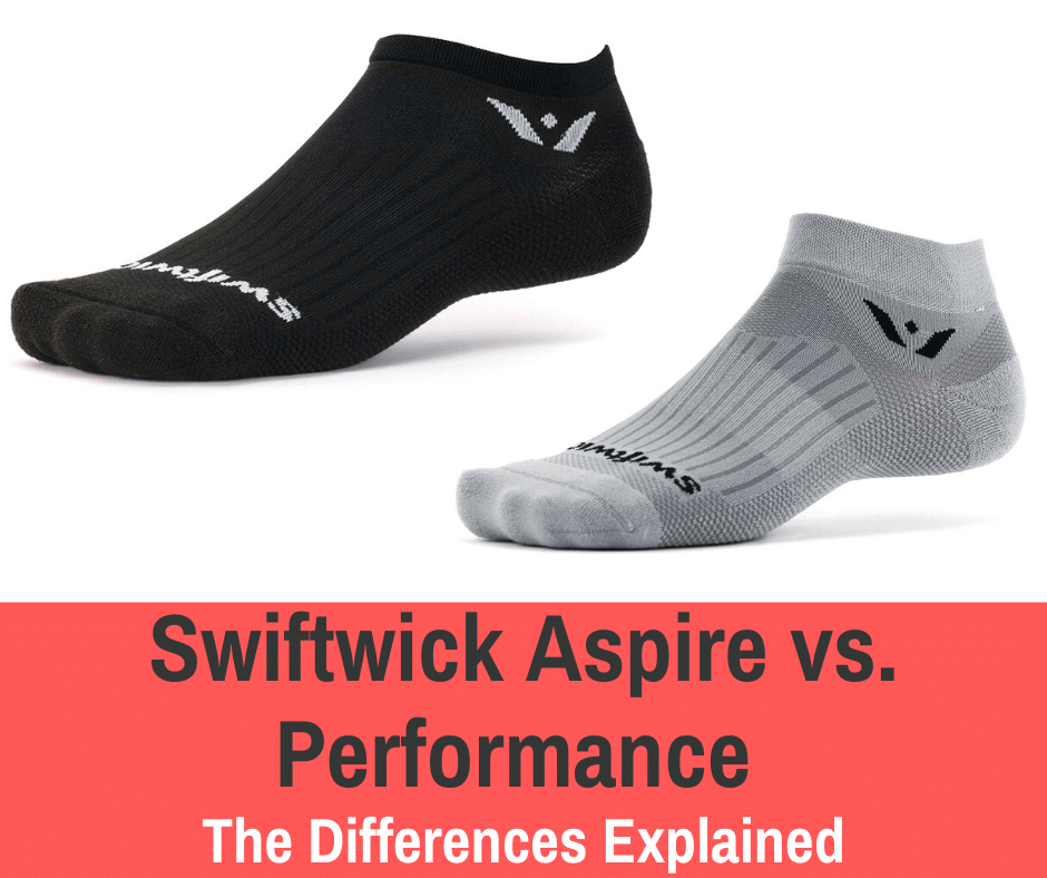 Runners need to wear socks to protect their feet. We compare two of the most popular sock lines: Swiftwick is the Aspire vs. the Performance series.