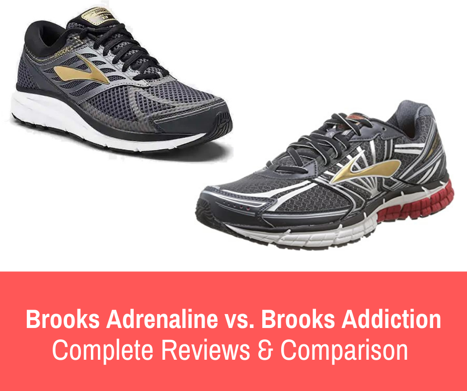 Read on for a full detailed analysis of Brooks Adrenaline GTS vs Brooks Addiction but for a quick comparison here are the main differences.