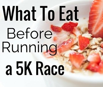 There are several different items you can eat before a 5K to help with your training