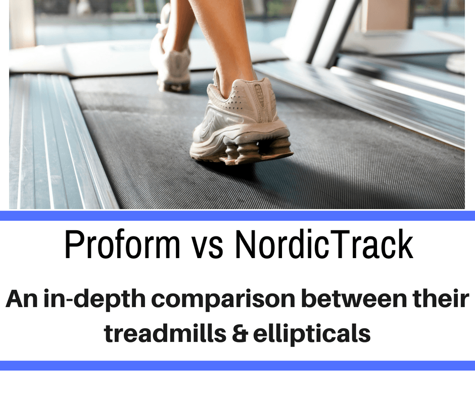 Most public gymnasiums have treadmills and ellipticals, so it makes sense that runners who have home gyms or would prefer not to run in the rain/heat would have one of the machines as well. But how can someone determine which style will work best for them? Treadmills and ellipticals are very similar, so many of the defining factors will come down to a person's preferences and budget. There are a two very popular brands which make the machines that we will be comparing today - Proform vs Nordictrack.