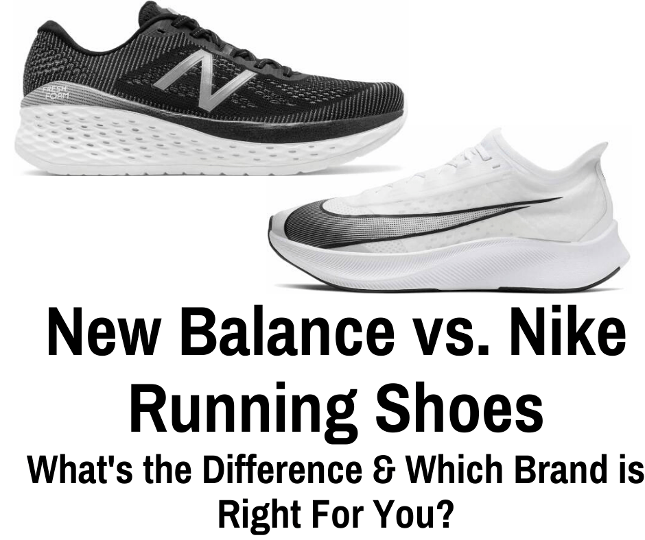 The biggest differences between Nike vs New Balance is that New Balance offers a firm but cushioned ride. Nike running shoes are great for shorter distances....