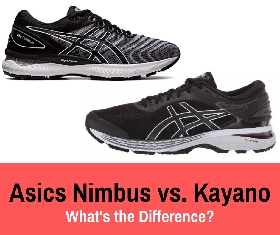Asics Nimbus vs. Kayano: Because Asics designs both the Nimbus and Kayano, it can be difficult to distinguish between the two styles at a glance.