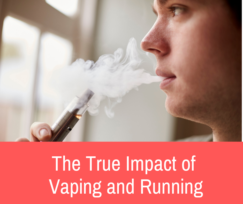 Is it possible that a few drags from a vape could let runners go faster for longer? Or is the total opposite? Here is the true impact of vaping and running.