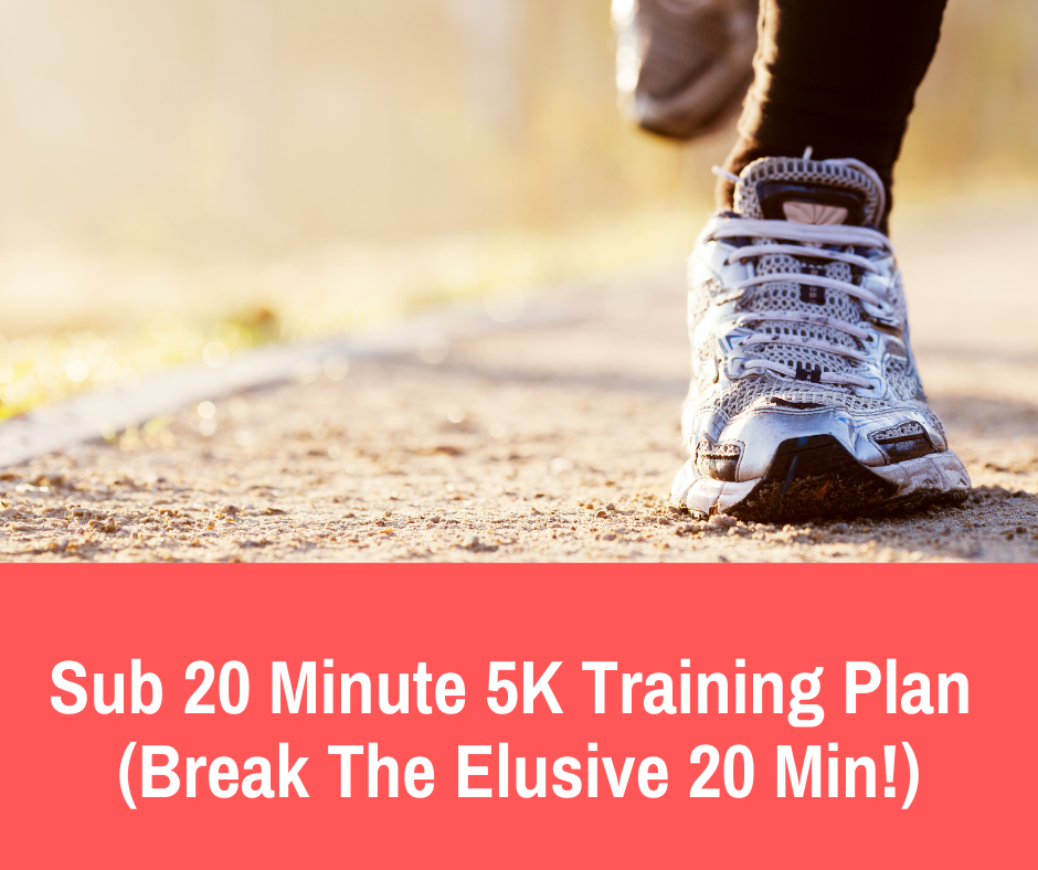This 5K training plan is designed for runners who are looking to finish at a time under 20 minutes. It's designed for runners who are finishing 5K's under 23-21 minutes already but need a little extra structure and guidance to get to the next level.