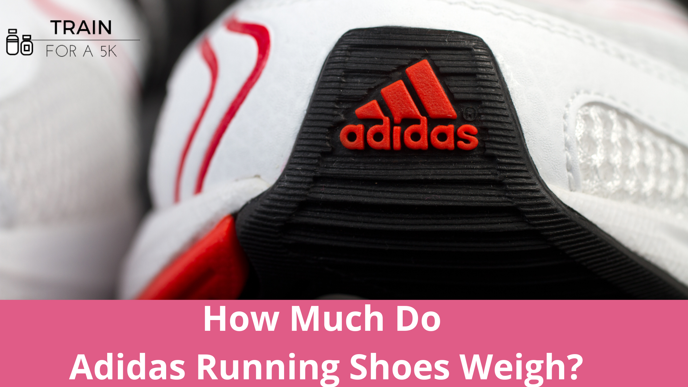 The average weight of an Adidas running shoe is 9.32 ounces in mens and 8.44 ounces in womens. The heaviest Adidas running shoe is the Ultra Boost and the lightest is the Adizero RC.