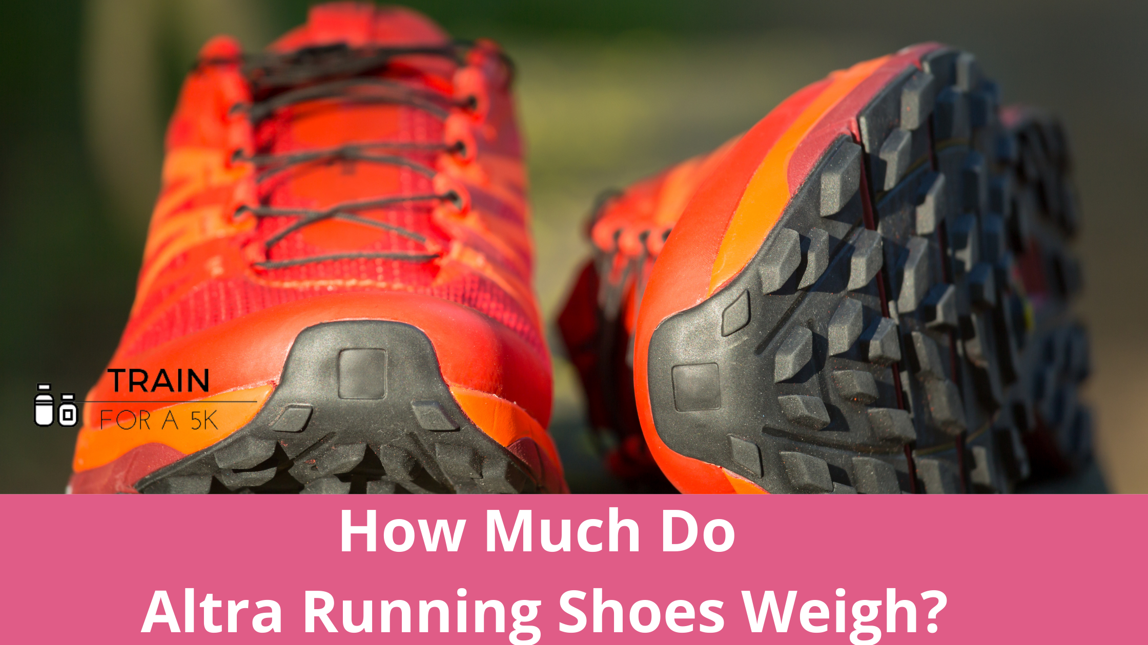 The average weight of an Altra running shoe is 9.19 ounces in men's and 7.87 ounces in women's. The heaviest Altra running shoe is the Altra Paradigm 5.0 and the lightest is the Altra Vanish-R which weighs 4.1 ounces.