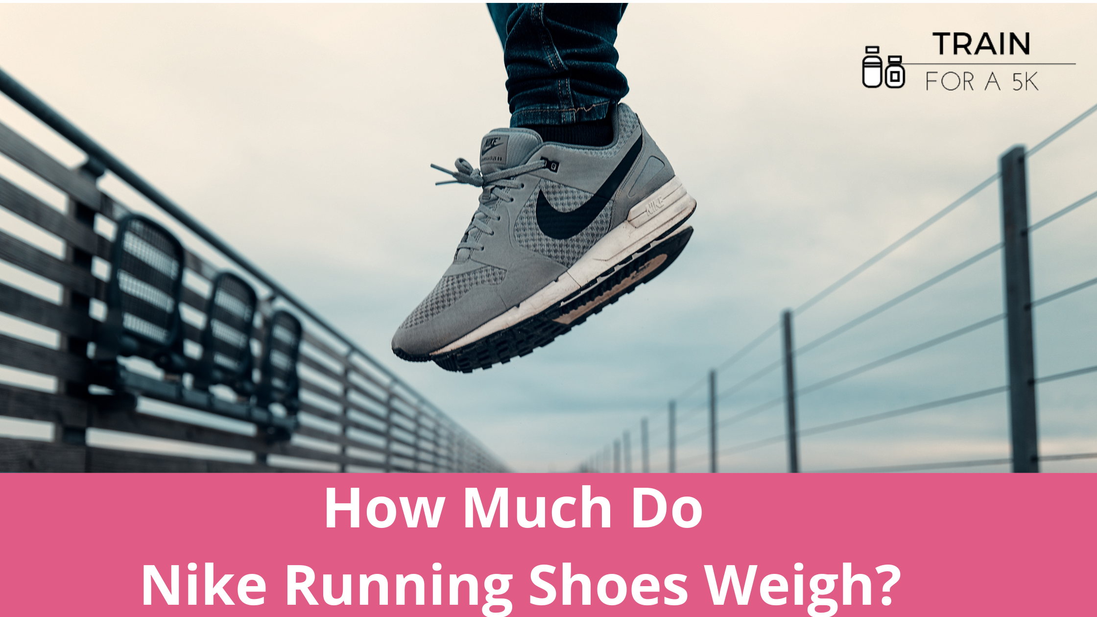 The average weight of a Nike running shoe is 9.4 ounces in men's and 8.1 ounces in women's. The heaviest Nike running shoe is the React Miler and the lightest is the Vaporfly Next%.