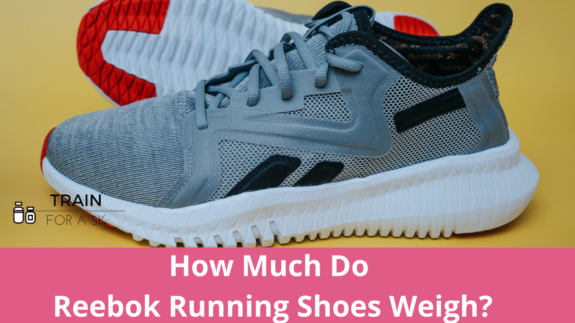 The average weight of a Reebok running shoe is 7.4 ounces in men's and 5.6 ounces in women's. The heaviest Reebok running shoe is the Forever Floatride Energy and the lightest is the Floatride Run Fast Pro.